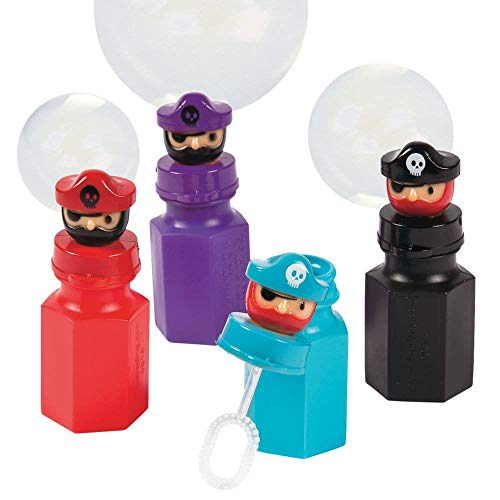 Set of 12 Pirate Character Party Favor Bubbles