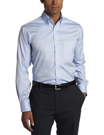 "Eagle Men's Non Iron Regular Fit Solid Button Down Collar Dress Shirt, Blue Mist, 15"" Neck 32""-33"" Sleeve"
