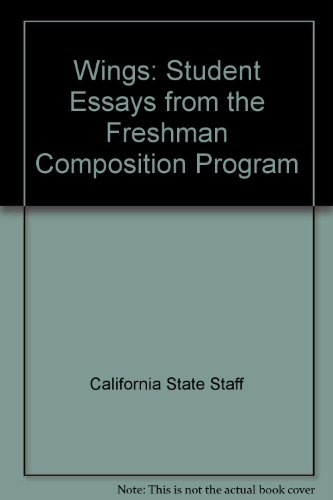 Wings Company Kendall (Wings: Student Essays from the Freshman Composition Program)