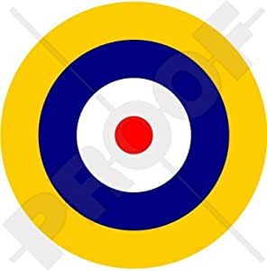 "RAF Real Fuerza Aérea Británica Tipo A1 Avión Medallones 100mm (4"") Pegatina de Vinilo Adhesivo, Sticker, Calcomania"