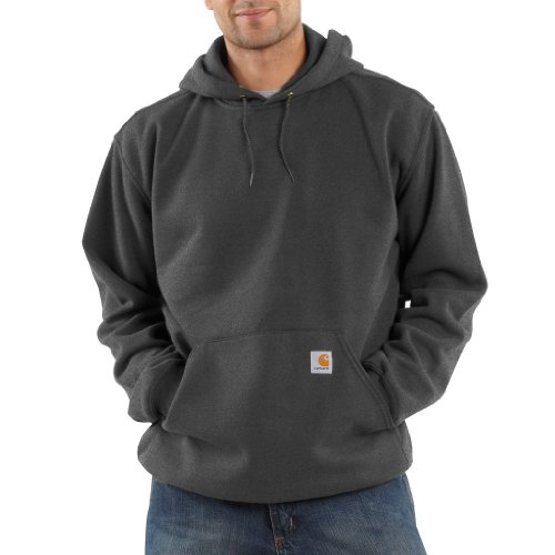 Carhartt Men's Midweight Sweatshirt Hooded Pullover Original Fit K121,Charcoal Heather,Large by Carhartt