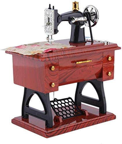 Multi-Dealine Mini máquina de Coser Vintage Estilo de Mesa Caja de música Decoración de Mesa mecánica Regalo de cumpleaños Decoración del día de la Madre: Amazon.es: Hogar