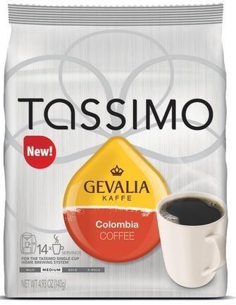 Gevalia café de Colombia para cafeteras Tassimo (14 unidades ...