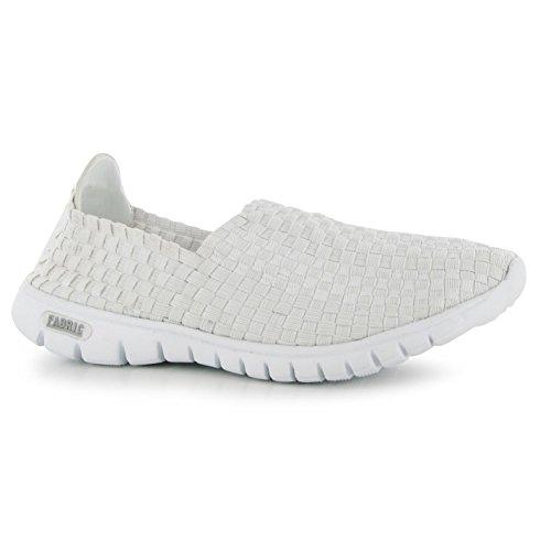 Tissu Loud Slip on Baskets pour femme Blanc décontracté Sneakers Chaussures Chaussures