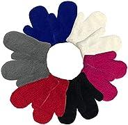 Kids Girls Boys Baby Gloves Winter Thick Warm Knit Cotton Mittens for 3-12 Years Unisex Children