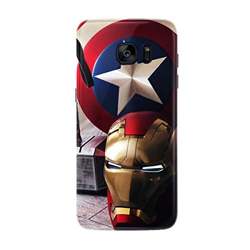 DECALZ Samsung Galaxy S7 Edge Mobile Skin Mobile wrap Sticker Avengers Premium Vinyl