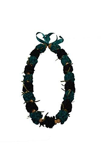 Hawaiian Ribbon Lei, Black and Silver-Ilima 32 Inch by Hawaii UWT