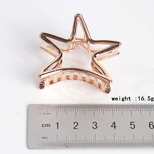 Weimay Hairpin Five-Pointed Star Shape Ponytail Clip Hollow Alloy Women Hairpin Hair Accessories by Weimay (Image #7)