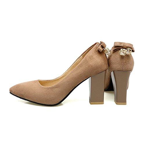 A&N Dgu00301, Sandales Compensées Femme - Jaune - Ecru, 36.5