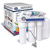Filtro de agua, sistema de filtración de agua de ósmosis inversa de 6 etapas Premium y sistema purificador de agua de purificador de agua definitivo RO Bajo la fuente ...