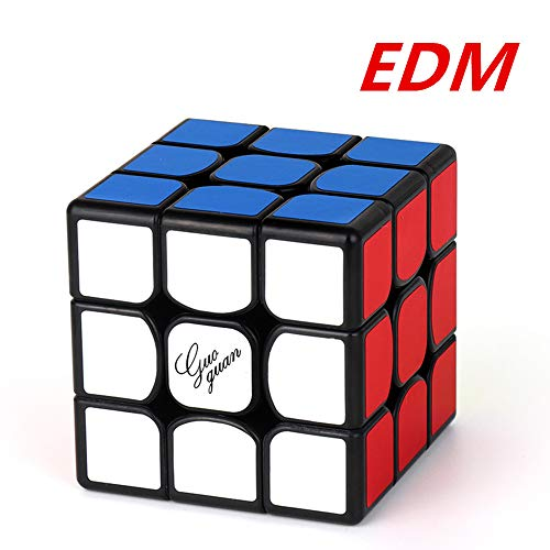 CuberSpeed Moyu Guoguan Yuexiao EDM Magnetic 3x3 Black Speed Cube Puzzle (Only The Best Edm)