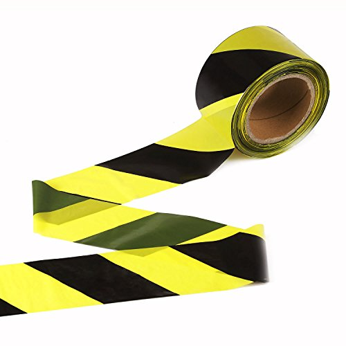 Caution Barricade Safety Tape - TopSoon Safety Caution Tape Barrier Tape Striped Barricade Tape Yellow and Black 2.8-Inch by 660-Feet Non-Adhesive