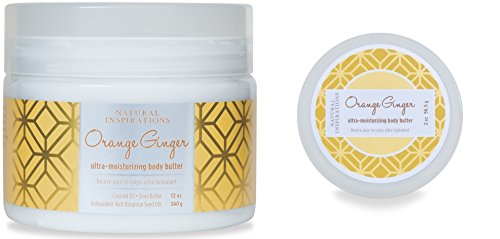 Natural Inspirations Large & Travel Body Butter 2 Piece Set, Orange Ginger