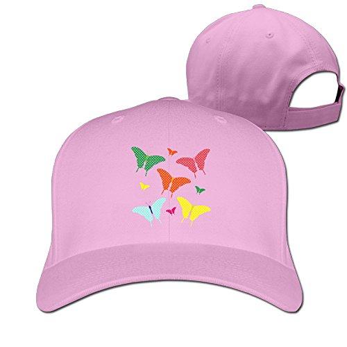 Colorful Beautiful Butterflies Clipart Adjustable Plain Sunscreen Trucker Hat Pattern Cap