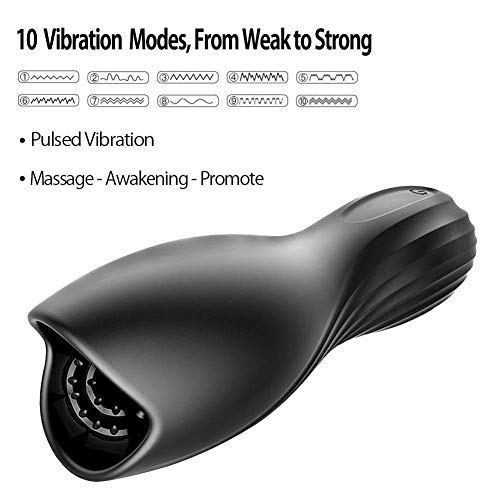 QJFFJ- Mästurbators Cup Automatic Heating Masturbator Cup Sucking Men Relax Massage Toy – Personal Box Package