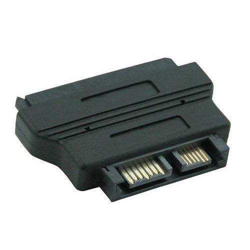 Slimline SATA, SATA, Male Connector//Female Connector, Negro InLine 29612 Adaptador de Cable Slimline SATA SATA Negro Adaptador para Cable
