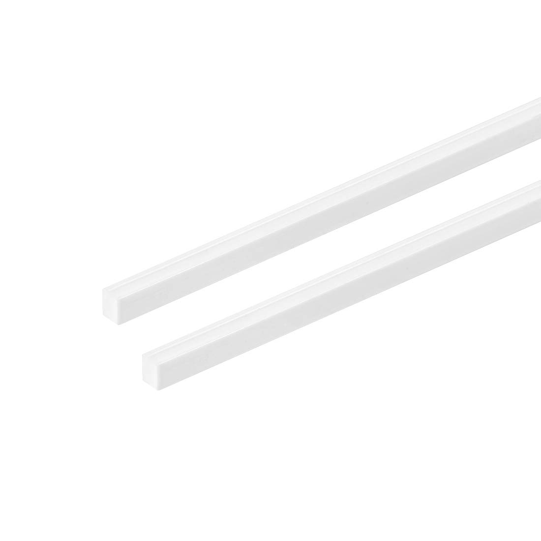 uxcell ABS Plastic Square Bars Rod 4mm/×4mm/×20 inch ABS Plastic Square Bar Rod for Architectural Model Making DIY White