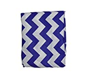"Babydoll Bedding Chevron Cradle Sheet, Plum, 18"" x 36"""