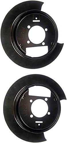 Rear Brake Dust Shields - APDTY 035310 Disc Brake Steel Dust Shield Backing Plate Set Of 2 Fits Rear Left & Right (Models With 4WD & Disc Brakes; Replaces 88935987, 88935988)