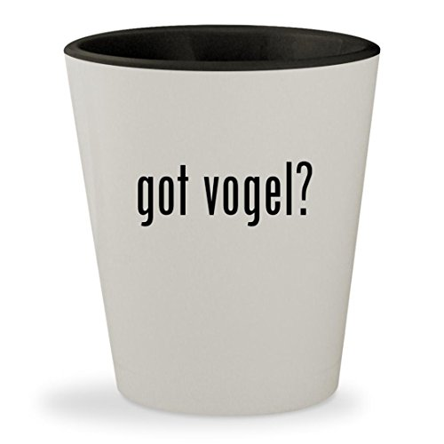 got vogel? - White Outer & Black Inner Ceramic 1.5oz Shot - Jim Sunglasses Mia