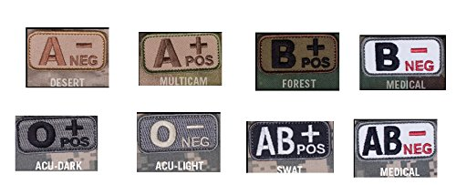 Blood Type Patches - Mil-Spec Monkey MEDICAL (B NEG)
