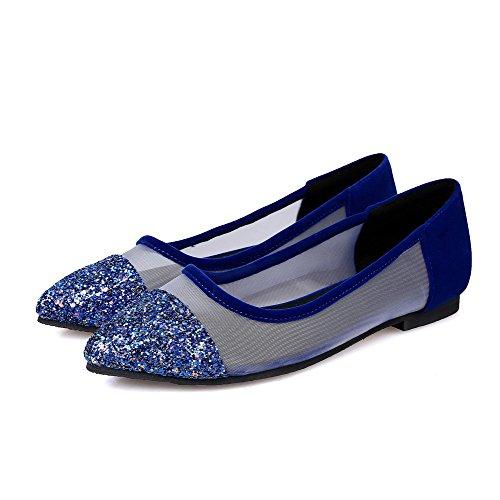 VogueZone009 Surtidos Azul Puntera Mujeres Cordones en Cerrada Colores Sin Plano Punta 14PrW1