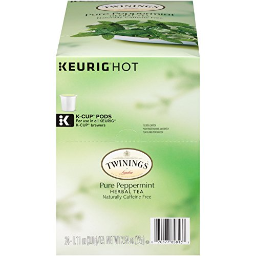- Twinings of London Pure Peppermint Tea K-Cups for Keurig, 24 Count