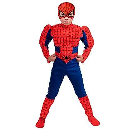 Disfraz Super Héroe Spider niño infantil (7-9 años): Amazon ...