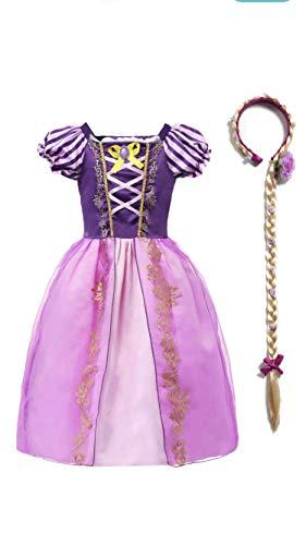 FashionModa4U Rapunzel Girls Costume Dress and Headband,