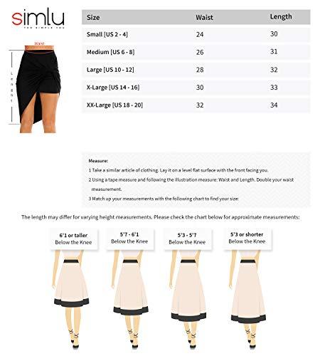 Size XX-Large, Heather Grey Womens Drape Up Stretchy Asymmetrical High Low Short Mini Bodycon Pencil Skirt