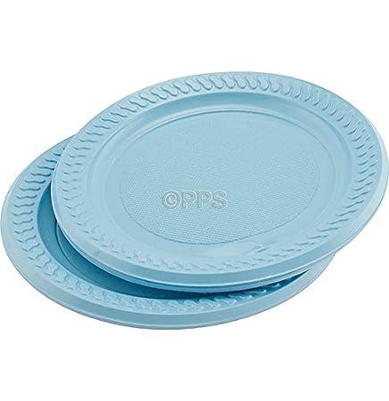 18 x LIGHT BLUE PLASTIC PARTY PLATES - 18cm  sc 1 st  Amazon UK & 18 x LIGHT BLUE PLASTIC PARTY PLATES - 18cm: Amazon.co.uk: Kitchen ...