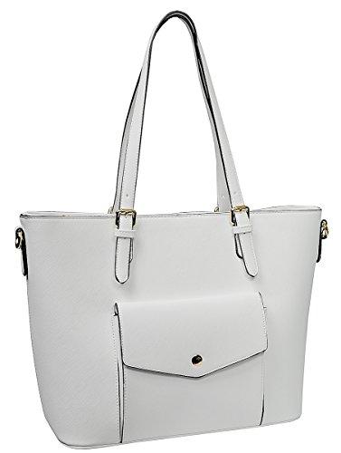 Eleganci , Damen Tote-Tasche weiß weiß