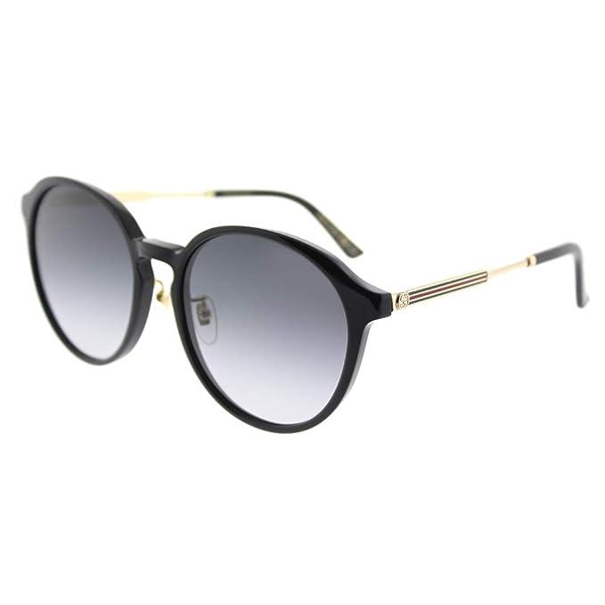 Amazon.com: Gucci GG 0205sk 002 negro plástico anteojos de ...