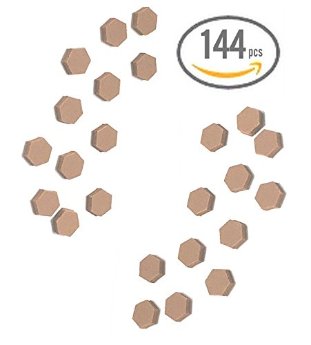 144pc PREMIUM QUALITY Cabinet Bumper Pad Soft Touch Foam Self Stick Hex Brown Surface Protector Picture Frames Drawers & Cabinets Lamps - MADE IN USA