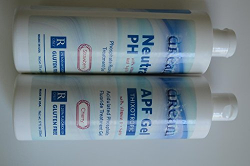 3D Dental - APF-MNT, Fluoride Gel Neutral 60 Sec. 16oz - - Gel Mint Fluoride Preventive Treatment