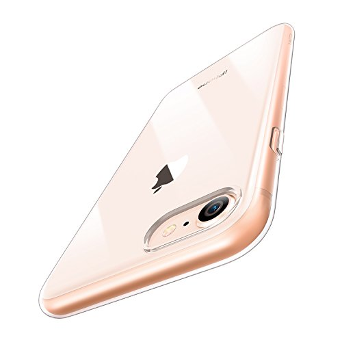 """ESR Crystal Transparent Clear Flexible Soft Gel TPU Cover Shell [Support Wireless Charging] [Slim Fit] for Apple 4.7"""" iPhone 8(2017 Release)/iPhone 7(2016)(Jelly Clear)"""