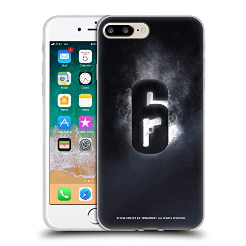 Official Tom Clancy's Rainbow Six Siege Glow Logos Soft Gel Case Compatible for iPhone 7 Plus/iPhone 8 Plus