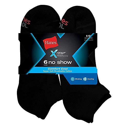 Hanes Men's X-Temp Comfort No Show 12-Pack_Black_10-13