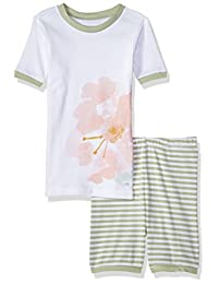 Burt's Bees Baby-Girls Organic Short Sleeve Pajama Set