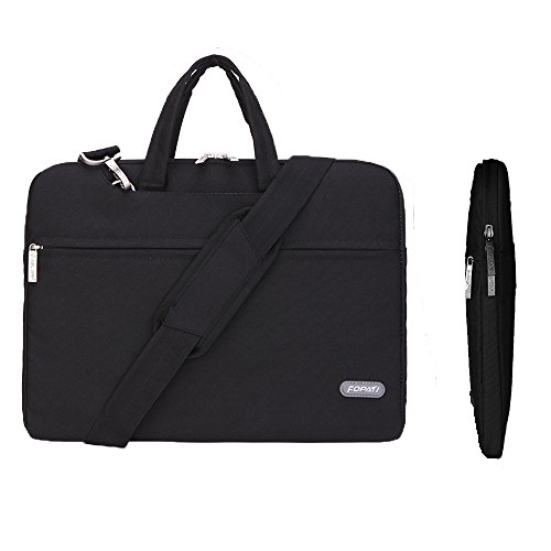 Laptop Bag,Animov Multi-functional Laptop Shoulder Bag Briefcase Carry Case for 12.9 iPad Pro / 13.3 Inch Laptop / Notebook Computer / MacBook Air / MacBook Pro / Macbook Pro retina display - Black