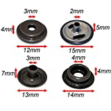 72pcs 15MM Stainless Steel Fastener Snap Press Stud Button for Marine Boat Canvas with Punching Set Tool Kit Gunmetal Black
