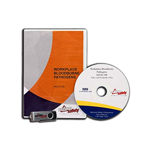 (2018) Bloodborne Pathogens Safety Video Training Kit   Complies with OSHA standard 1910.1030 Bloodborne Pathogens Training For UNLIMITED Number Of Employees With Certificate, Quiz, And More!