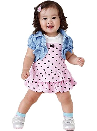 Tp Sky Baby Girls Sleeveless Tops Plaid Shorts Scarf Bowknot Outfits Sets (1-2Y)