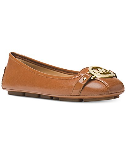 Michael Michael Kors Women¡¯s Luggage Leather Fulton Moc Flats 8 (B) US Women