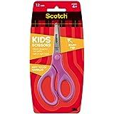 3M 10143 Forbici Scotch Kids, 12 cm, Punta Arrotondata, Materiale Morbido, colori assortiti