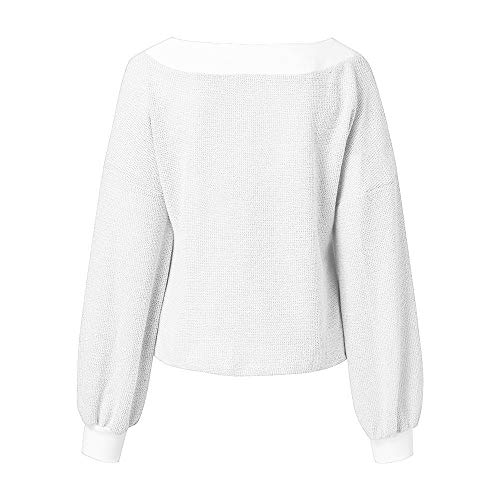 Manches DAYLIN Femme Blanc Dcontract Col Solid V Chemisier Top Courtes wFxRq6a