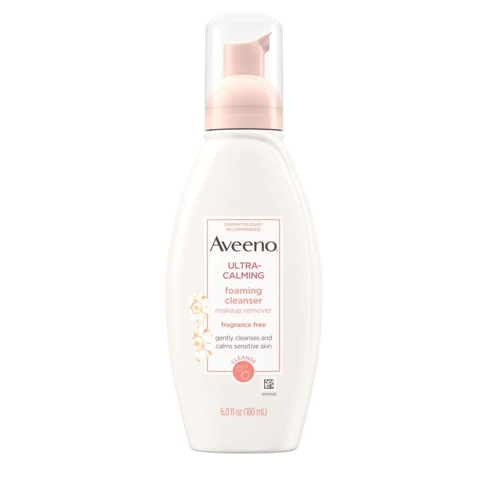 Aveeno Active Naturals Ultra-Calming Foaming Cleanser, Fragrance-Free, 6-Ounce Bottle (Pack Of 3) by Aveeno