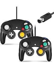 Cipon Controller Compatible with Gamecube Controller, Compatible with Nintendo Gamecube and Wii 2 Pack Black