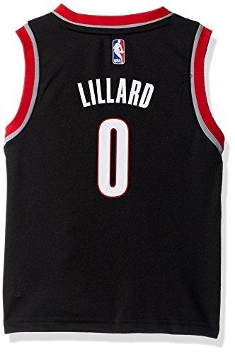 check out ec9f9 0c194 Outerstuff NBA Portland Trail Blazers-Lillard Kids Replica Player  Jersey-Road, Medium(5-6), Black