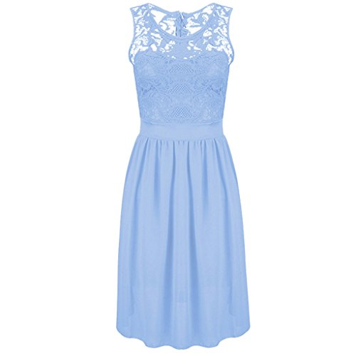 Buy light blue and black lace dress - 4